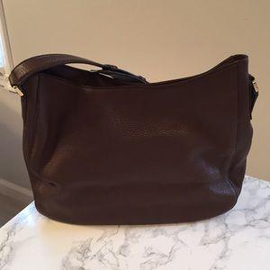 f7e1f24a391 Tory Burch Bags - Tory Burch Mercer Slouchy Hobo Bag Dark Walnut